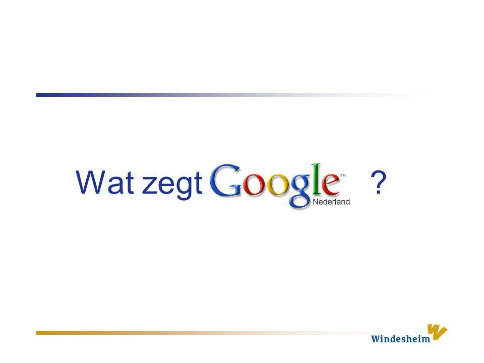 Wat zegt Google