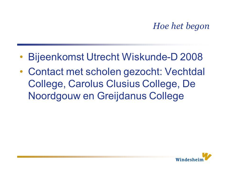 Bijeenkomst Utrecht Wiskunde-D 2008