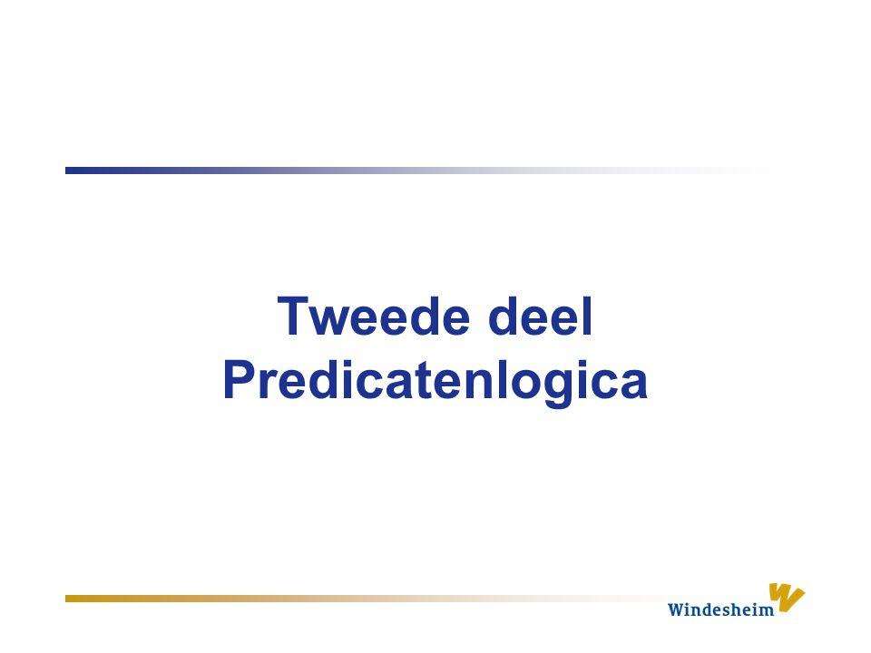 Tweede deel Predicatenlogica