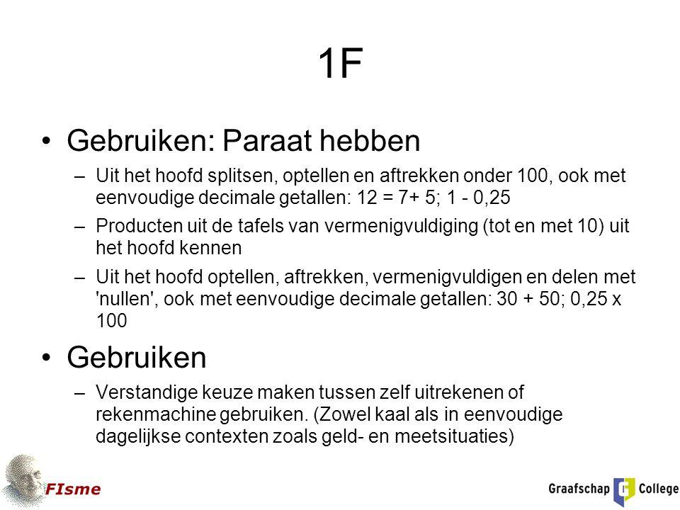 1F Gebruiken: Paraat hebben Gebruiken