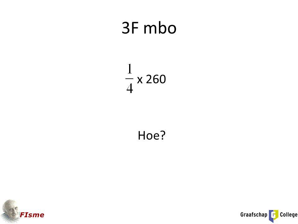 3F mbo x 260 Hoe Tekening - via dl (maten!) Gelijknamig maken