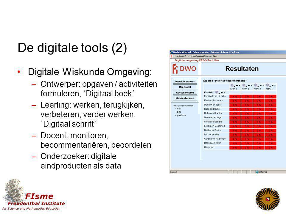 De digitale tools (2) Digitale Wiskunde Omgeving: