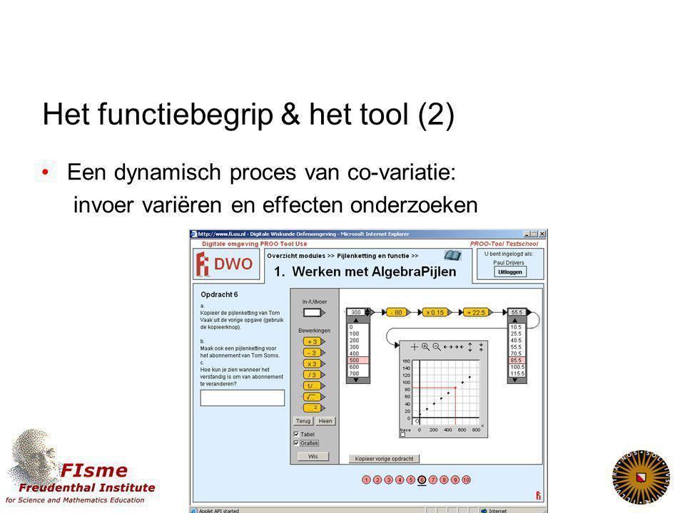Het functiebegrip & het tool (2)