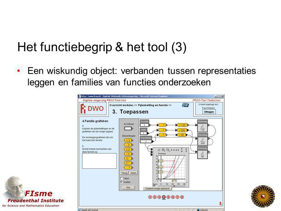 Het functiebegrip & het tool (3)