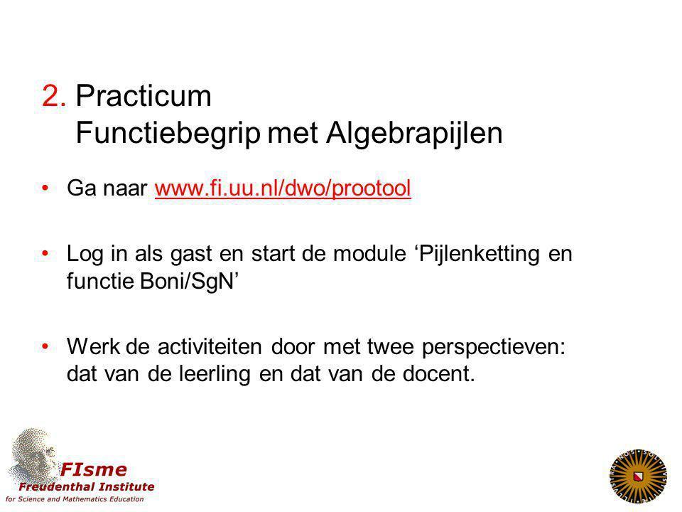 2. Practicum Functiebegrip met Algebrapijlen