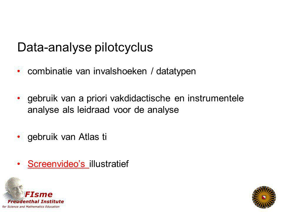 Data-analyse pilotcyclus