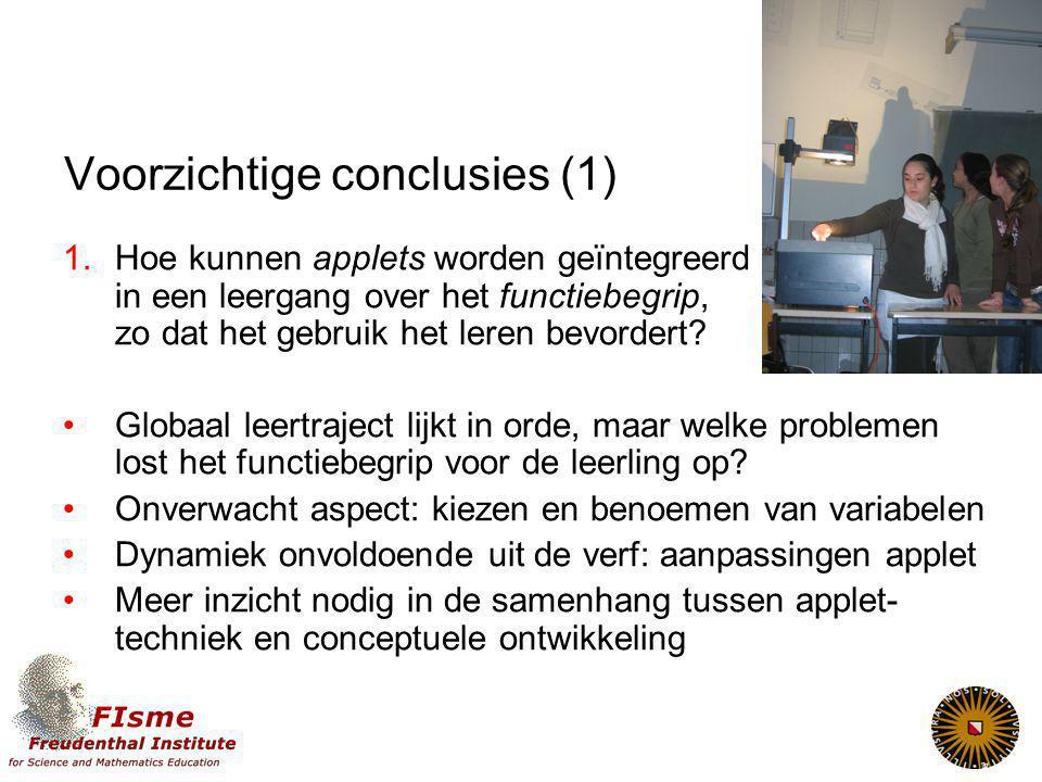 Voorzichtige conclusies (1)