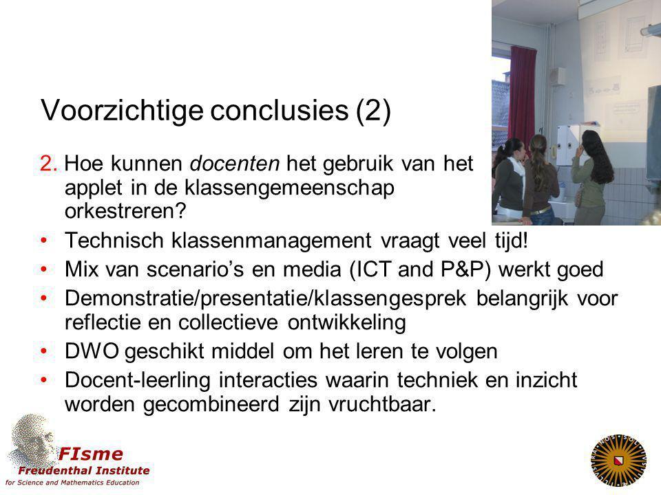 Voorzichtige conclusies (2)