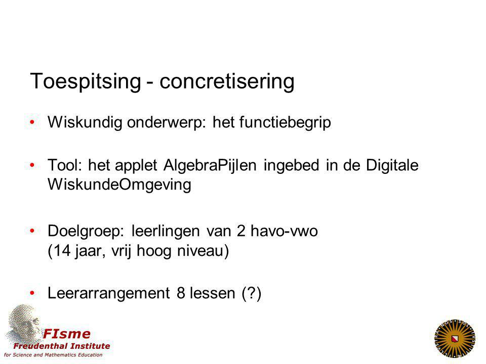 Toespitsing - concretisering