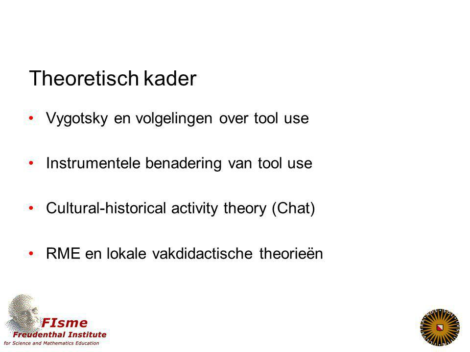 Theoretisch kader Vygotsky en volgelingen over tool use