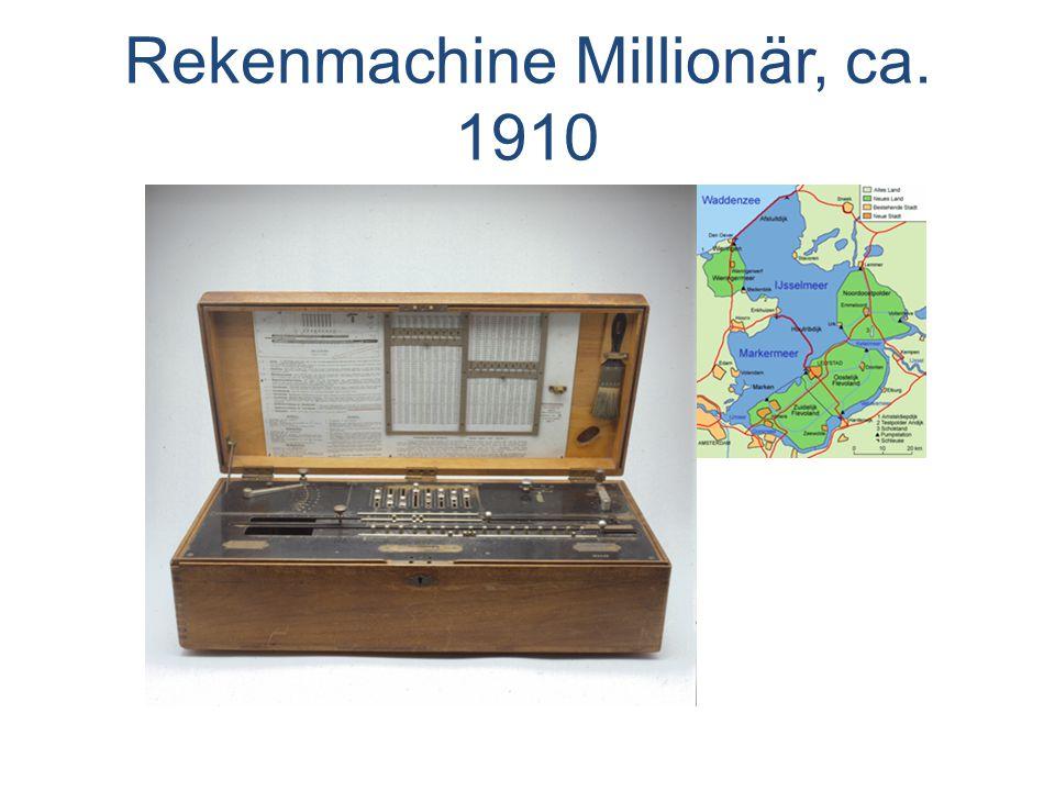 Rekenmachine Millionär, ca. 1910