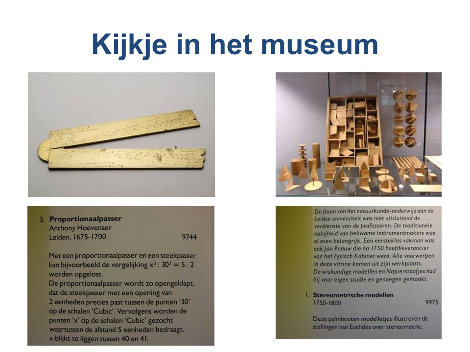 Kijkje in het museum