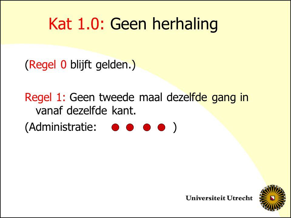 Kat 1.0: Geen herhaling (Regel 0 blijft gelden.)