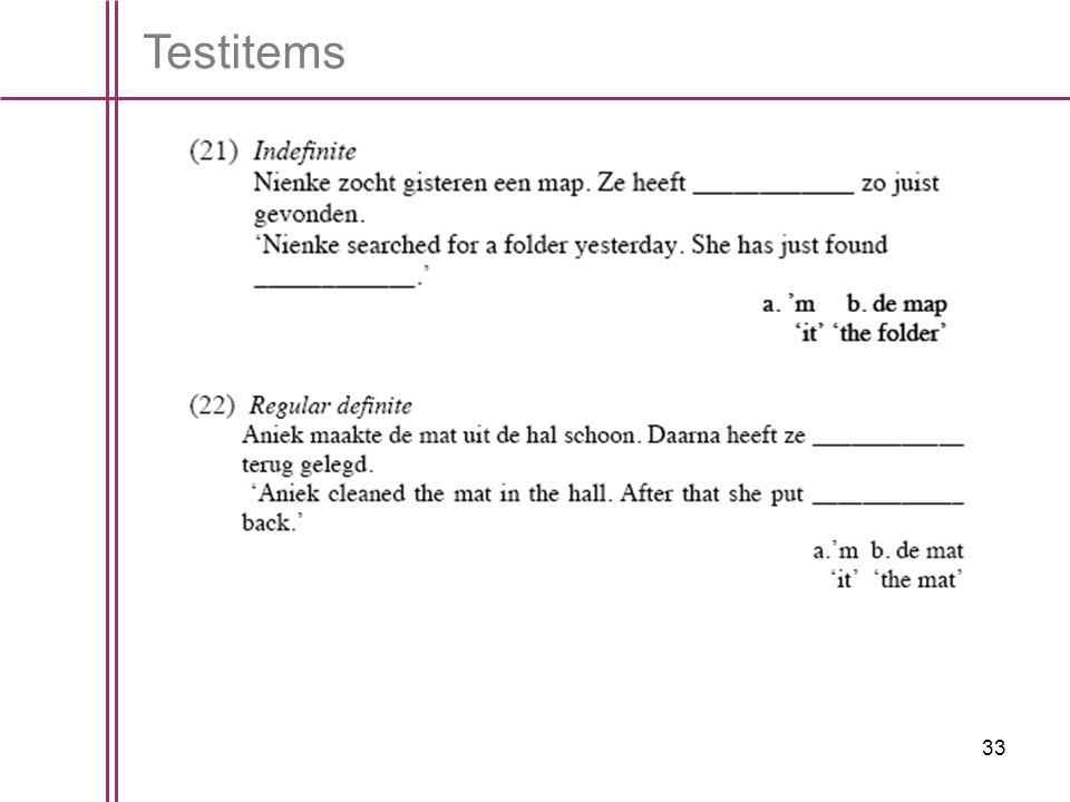 Testitems
