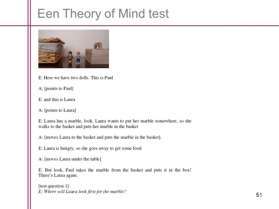 Een Theory of Mind test