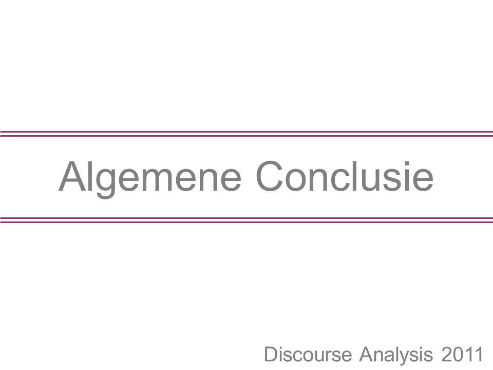 Algemene Conclusie Discourse Analysis 2011