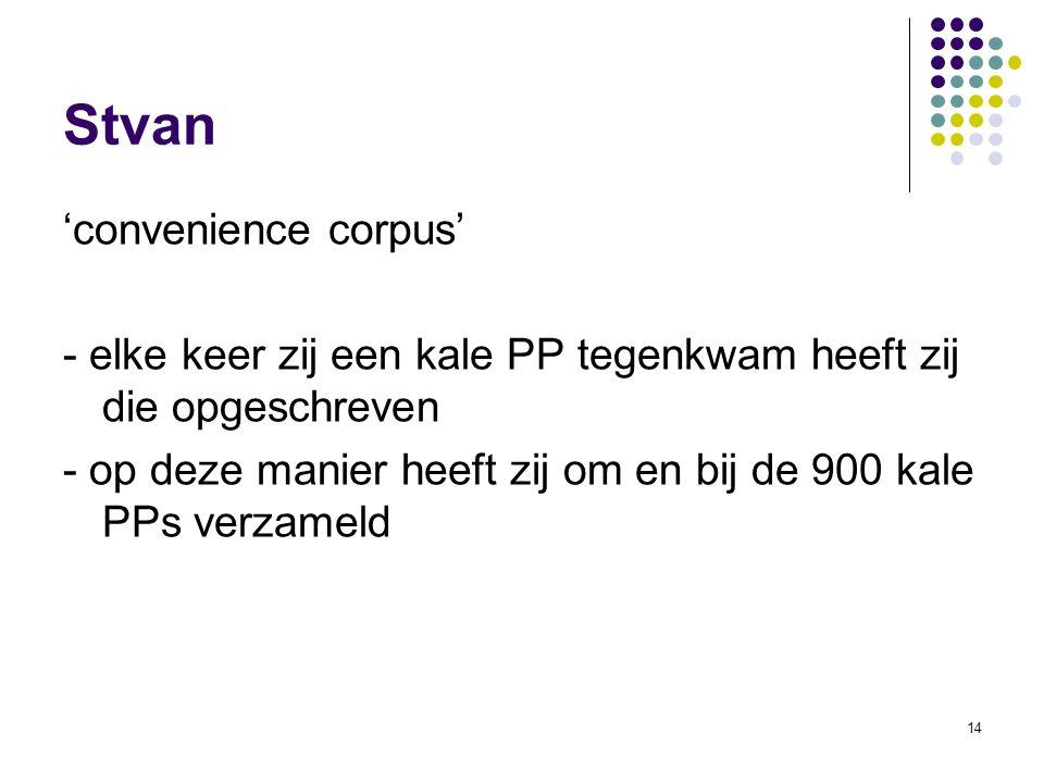Stvan 'convenience corpus'