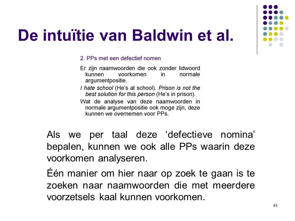 De intuïtie van Baldwin et al.