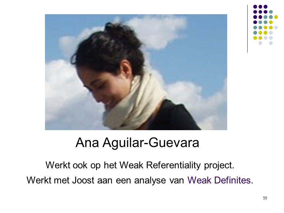 Ana Aguilar-Guevara Werkt ook op het Weak Referentiality project.