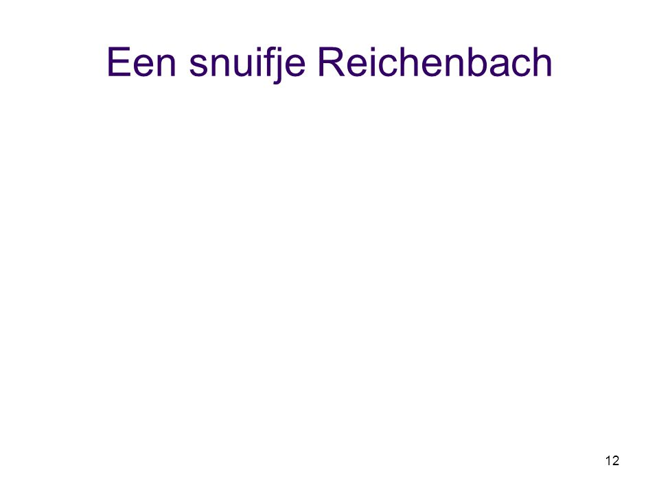 Een snuifje Reichenbach