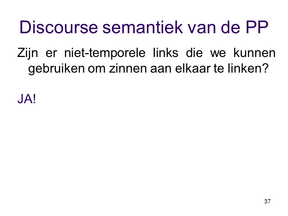 Discourse semantiek van de PP