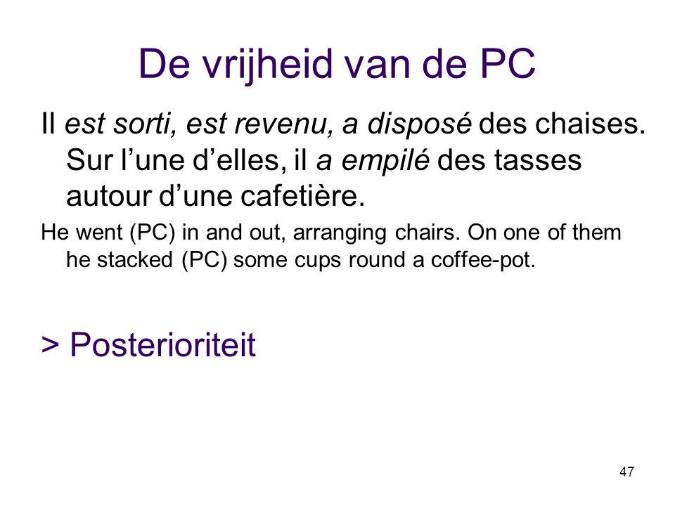 De vrijheid van de PC > Posterioriteit
