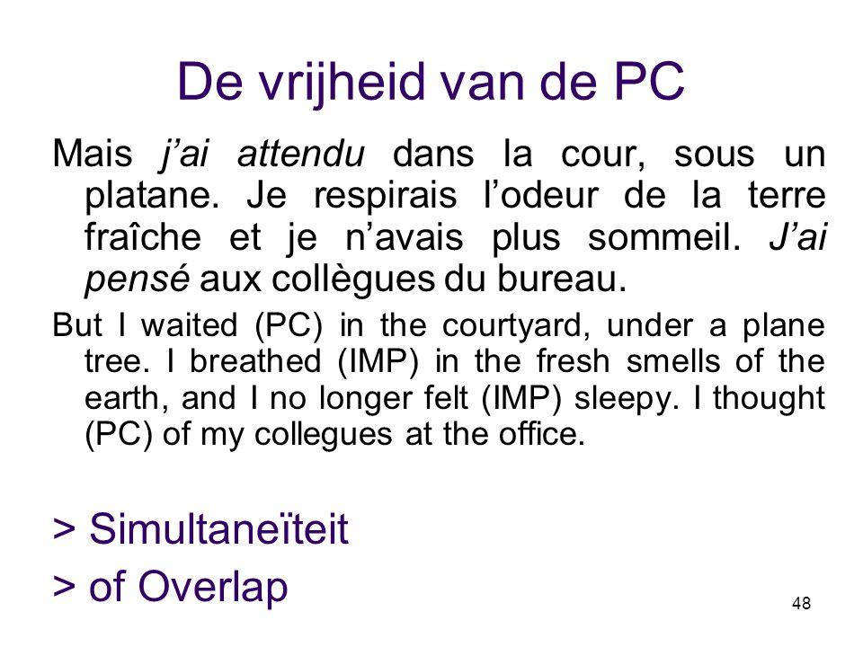 De vrijheid van de PC > Simultaneïteit > of Overlap