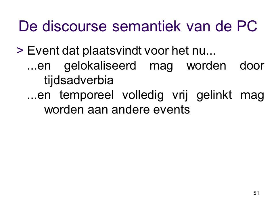 De discourse semantiek van de PC