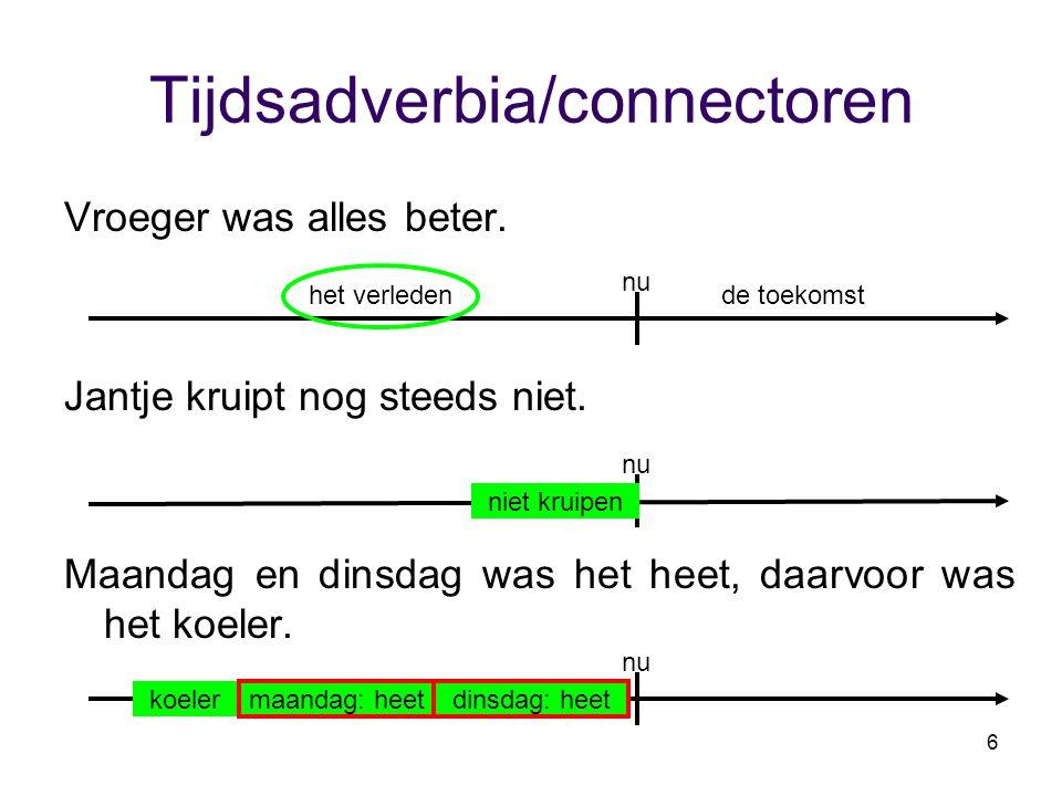 Tijdsadverbia/connectoren