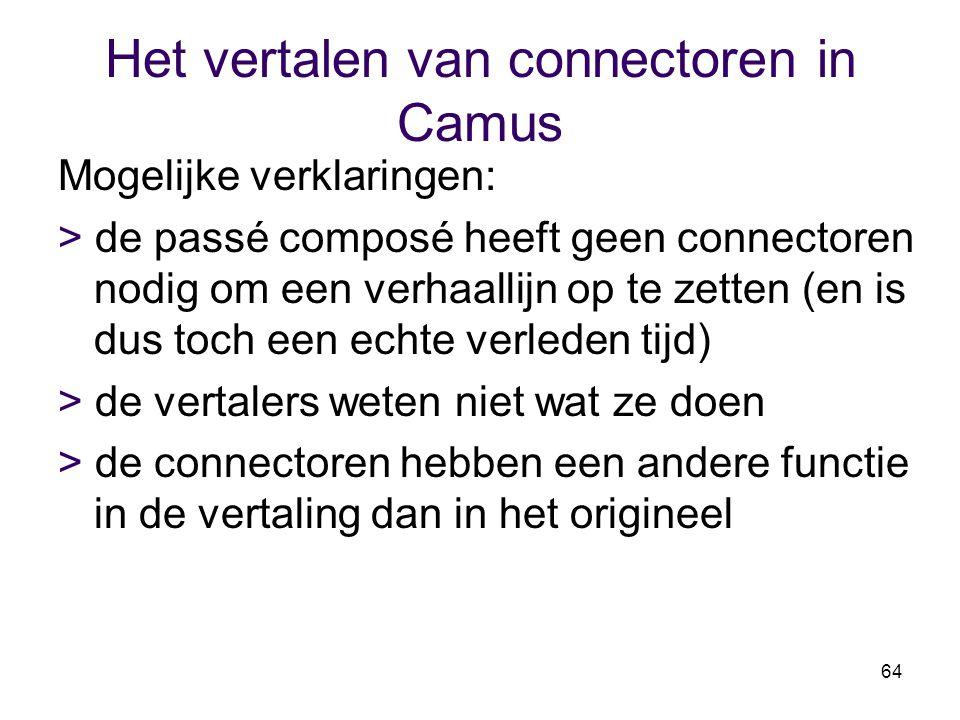 Het vertalen van connectoren in Camus