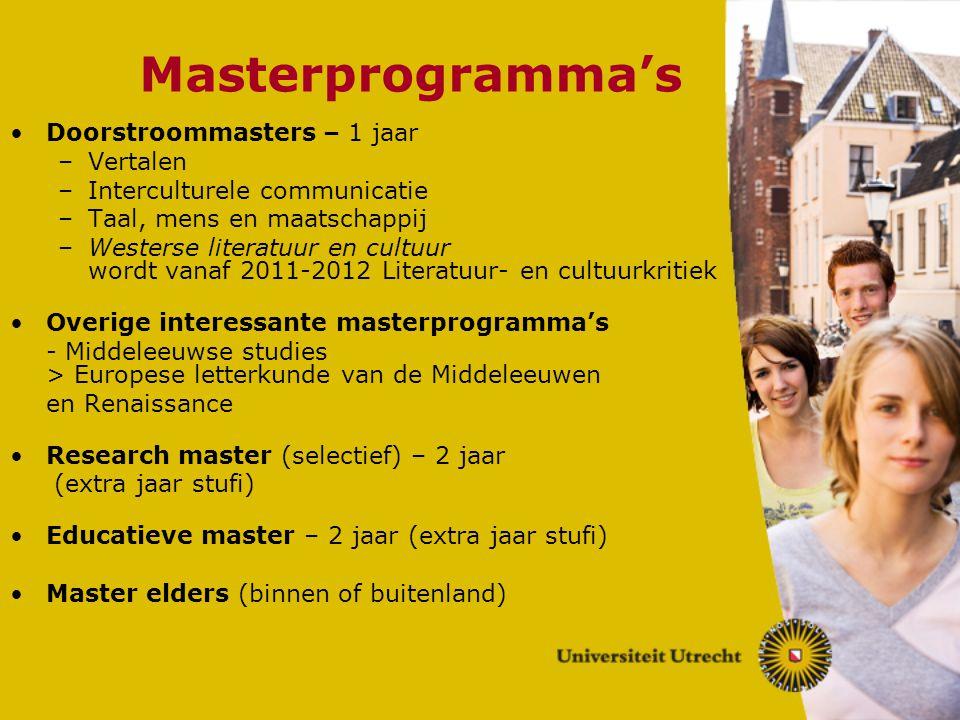 Masterprogramma's Doorstroommasters – 1 jaar Vertalen