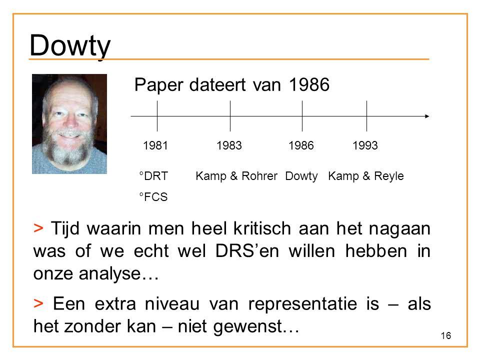 Dowty Paper dateert van 1986