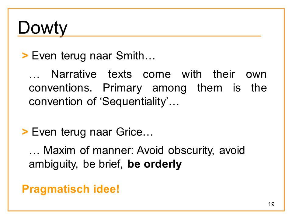Dowty > Even terug naar Smith…