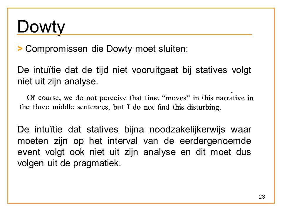 Dowty > Compromissen die Dowty moet sluiten: