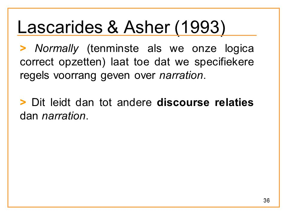 Lascarides & Asher (1993)