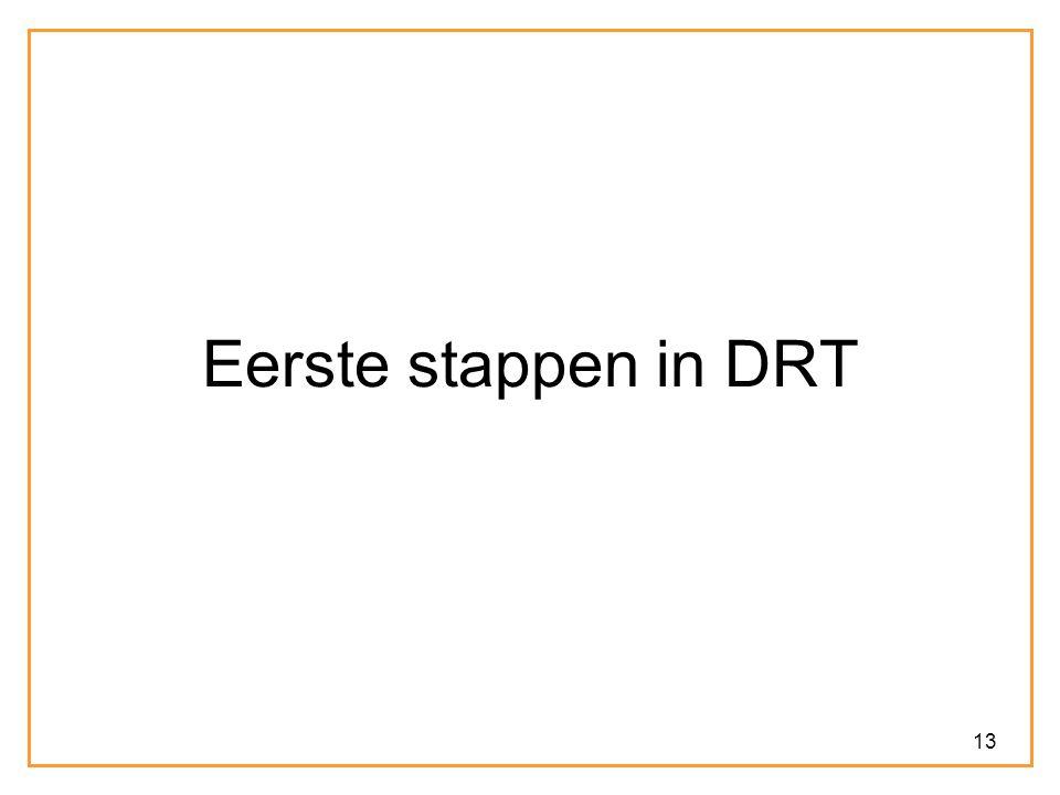 Eerste stappen in DRT