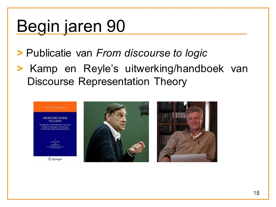 Begin jaren 90 > Publicatie van From discourse to logic