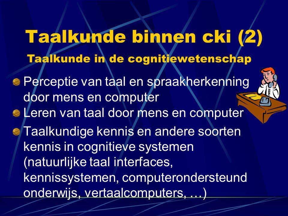 Taalkunde binnen cki (2)