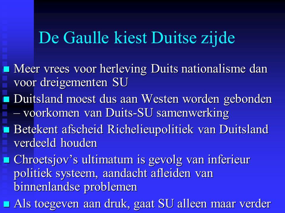 De Gaulle kiest Duitse zijde