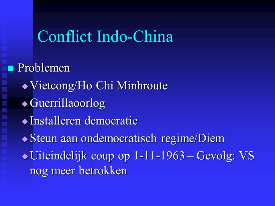 Conflict Indo-China Problemen Vietcong/Ho Chi Minhroute