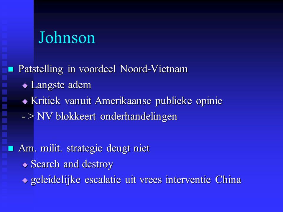 Johnson Patstelling in voordeel Noord-Vietnam Langste adem