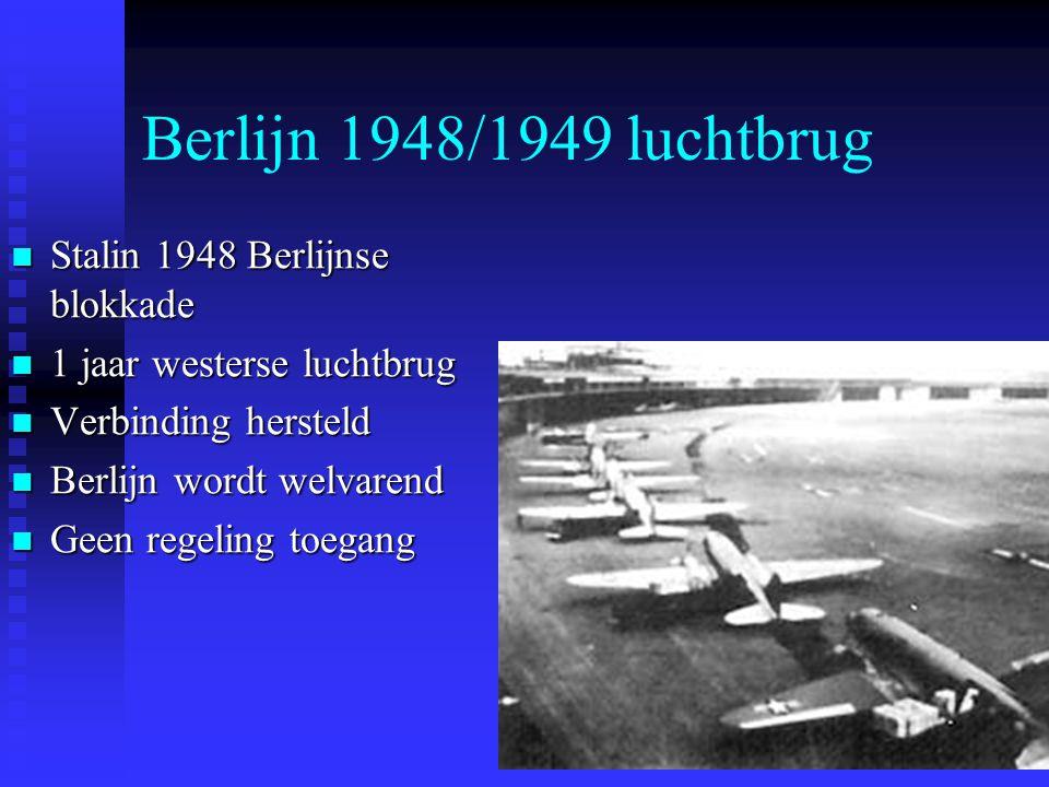 Berlijn 1948/1949 luchtbrug Stalin 1948 Berlijnse blokkade