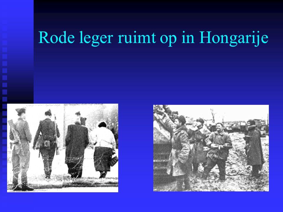 Rode leger ruimt op in Hongarije