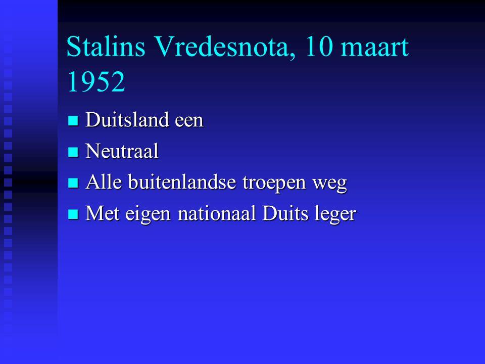 Stalins Vredesnota, 10 maart 1952