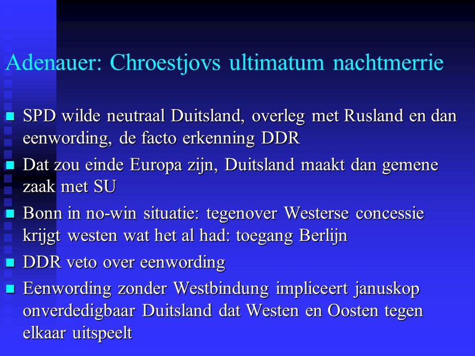 Adenauer: Chroestjovs ultimatum nachtmerrie