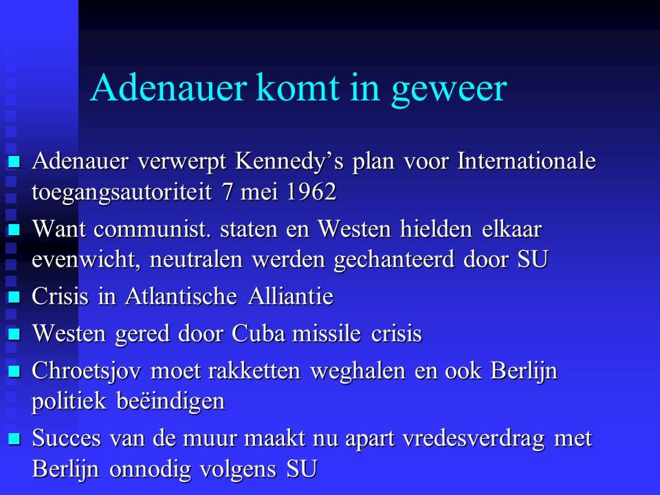 Adenauer komt in geweer
