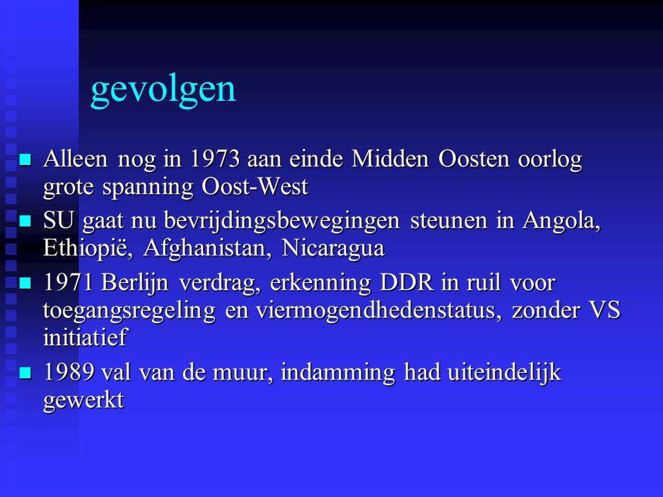 gevolgen Alleen nog in 1973 aan einde Midden Oosten oorlog grote spanning Oost-West.