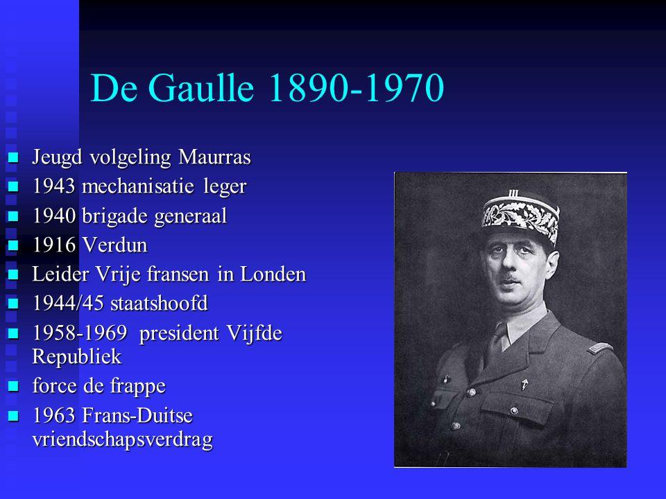 De Gaulle 1890-1970 Jeugd volgeling Maurras 1943 mechanisatie leger