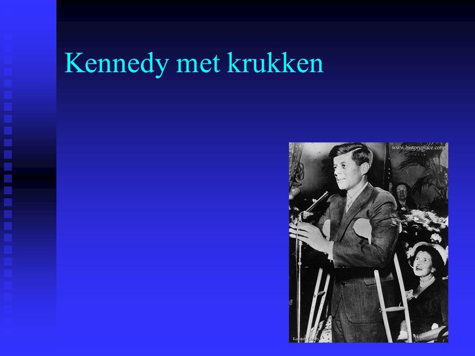 Kennedy met krukken