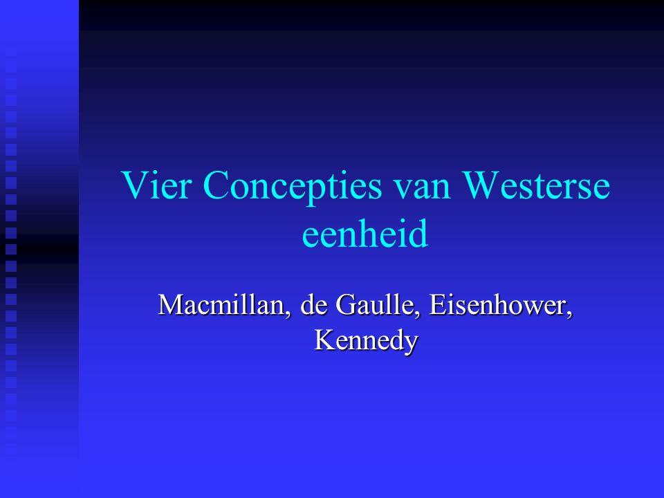 Vier Concepties van Westerse eenheid